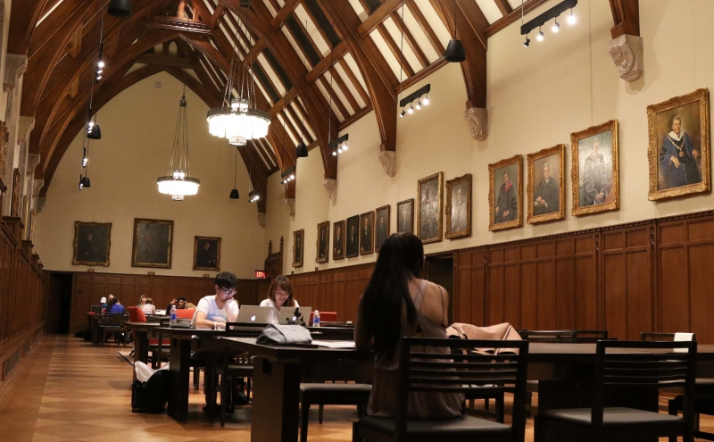 Part of the Rubenstein Library renovations included enhancing the study space in the Gothic Reading Room on the second floor.