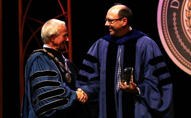 Faculty and staff received several awards during the annual Founders' Day ceremony Friday.
