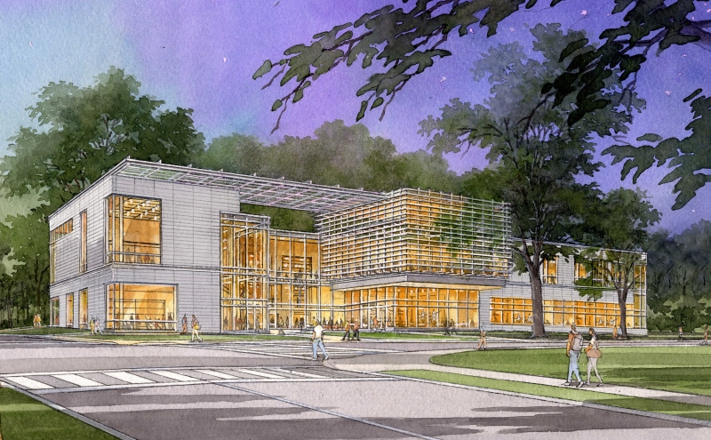"The new Arts Center is expected to be a ""game-changer for the arts at Duke"" at the corner of Anderson Street and Campus Drive across from the Nasher Museum of Art."
