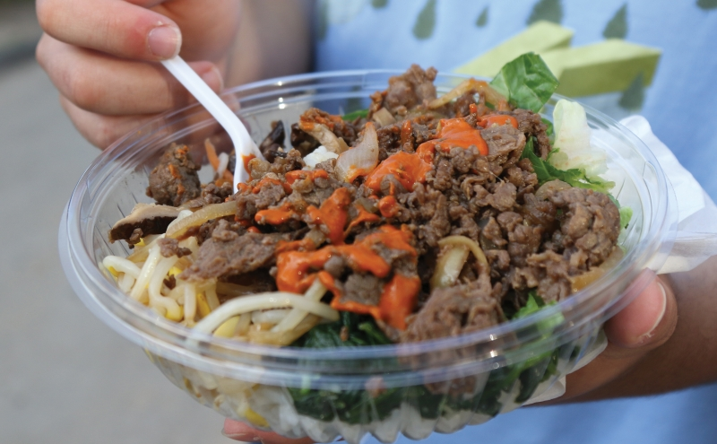 "The latest addition to the food truck lineup serves bibimbap, soy-marinated ""ugly wings"" and much more."