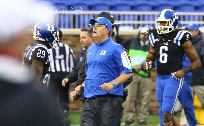 Cutcliffe laments repeated mistakes in loss to Cavaliers