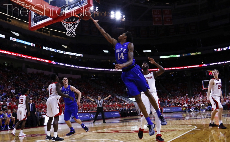 Freshman Brandon Ingram and the Blue Devils will look for their first top-25 win Monday against a dangerous Miami squad.