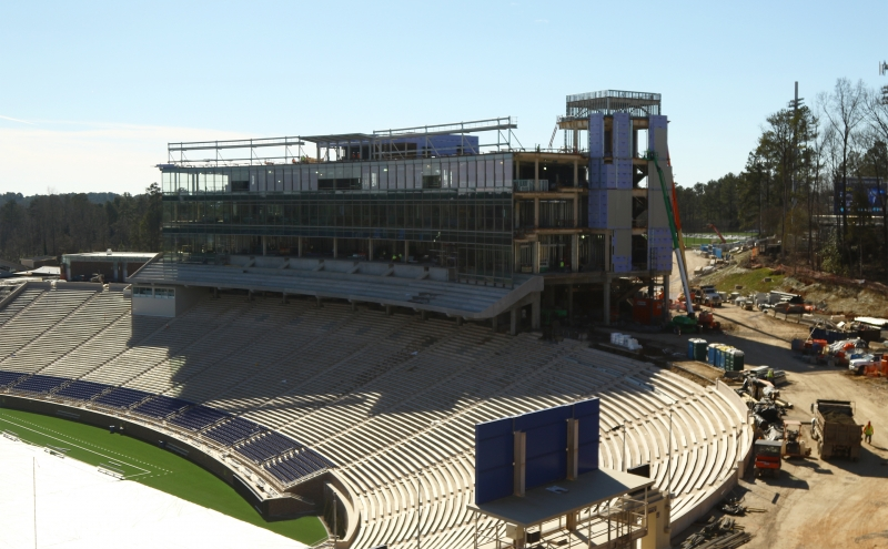 Blue Devil Tower will open for Duke's home opener Sept. 3 against N.C. Central, the centerpiece of a massive renovation project at Wallace Wade Stadium.