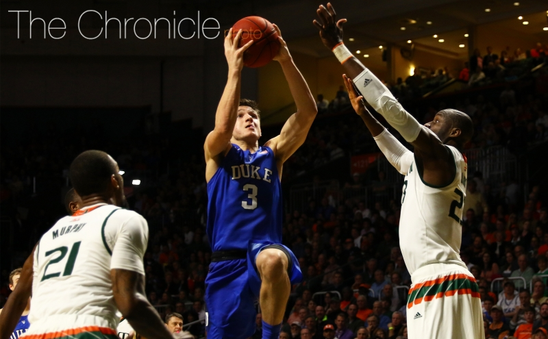 After an eight-day layoff, Grayson Allen will lead the now-unranked Blue Devils to Atlanta for a battle against Georgia Tech.
