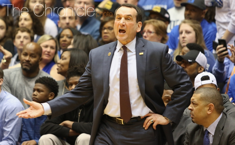 Duke head coach Mike Krzyzewski and Duke will look to capture a fourth straight win against North Carolina when the Tobacco Road rivalry resumes Wednesday night in Chapel Hill.