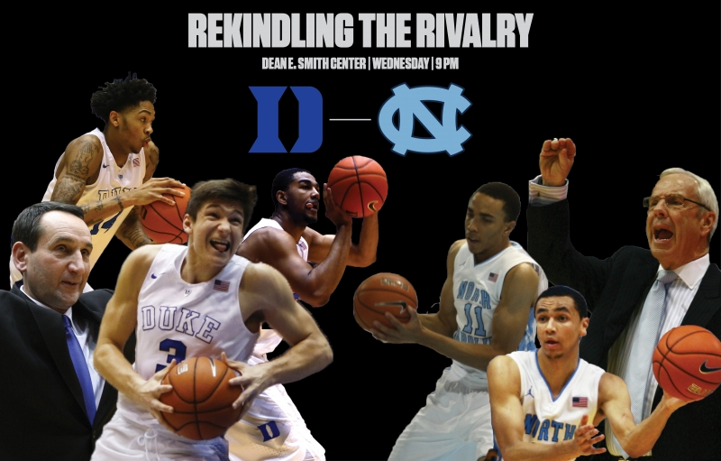 Duke and North Carolina resume their Tobacco Road rivalry Wednesday night when the No. 20 Blue Devils head to Chapel Hill to battle the No. 5 Tar Heels.