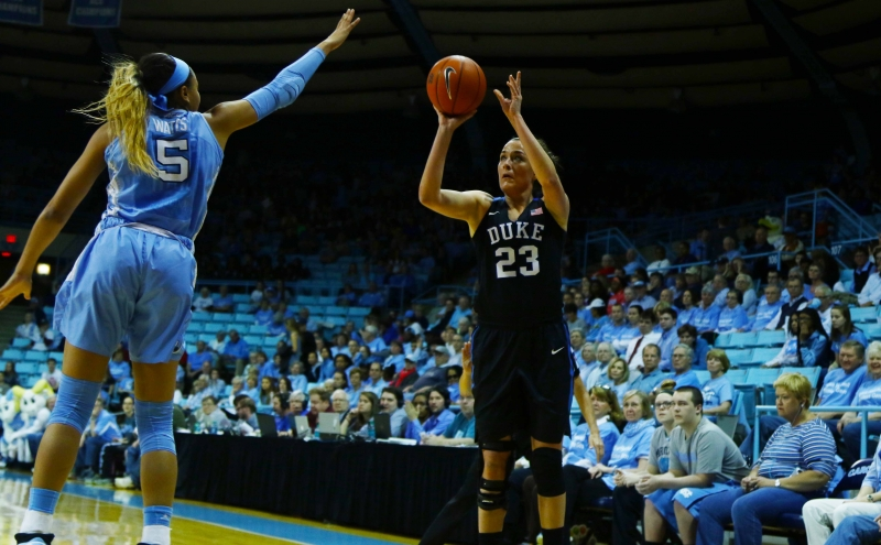 Redshirt sophomore Rebecca Greenwell hit four 3-pointers on her way to a career-high 27 points Sunday against North Carolina.