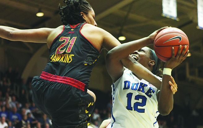 Junior Chelsea Gray scored a career-high 28 points against Maryland Monday night.