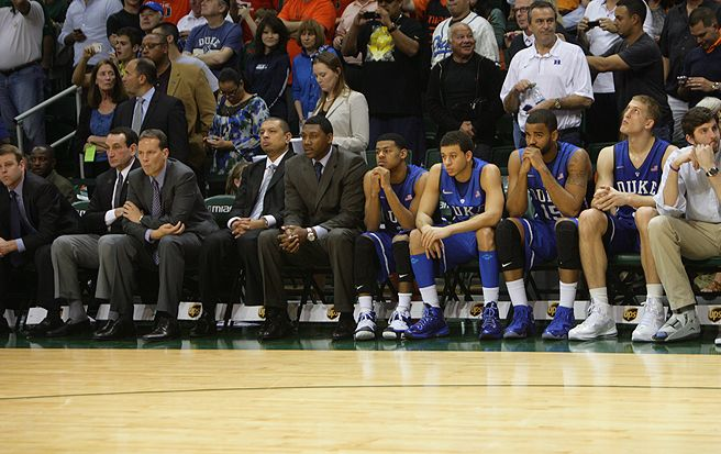 No. 1 Duke was stunned by No. 25 Miami, which went on a 25-1 run in the first half and never looked back.