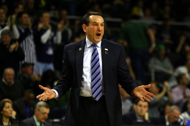 Duke head coach Mike Krzyzewski's halftime speech paid immediate dividends as the Blue Devils rattled off a 10-0 run early in the second half.