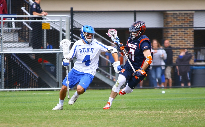 Senior attack Chad Cohan sparked Duke's comeback with three goals and two assists.