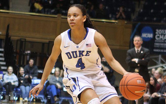 Chloe Wells scored a season-high 13 points in Duke's win against Boston College on Sunday.