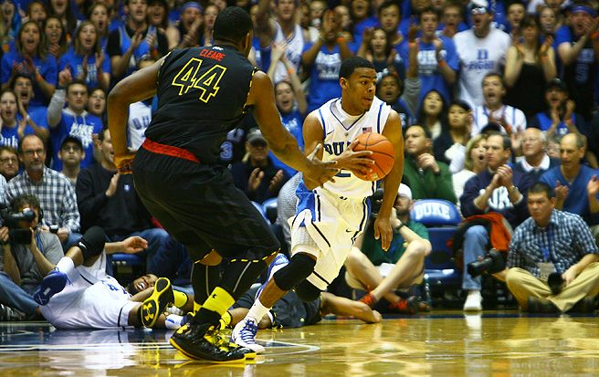 Duke turned it over a season-low four times against Maryland and didn't turn it over once in the second half.