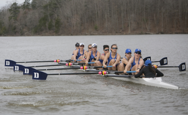 The Blue Devils' V8, 2V8 and V4 boats carry momentum into the NCAA championship after eachfinishing second at the ACC championship.