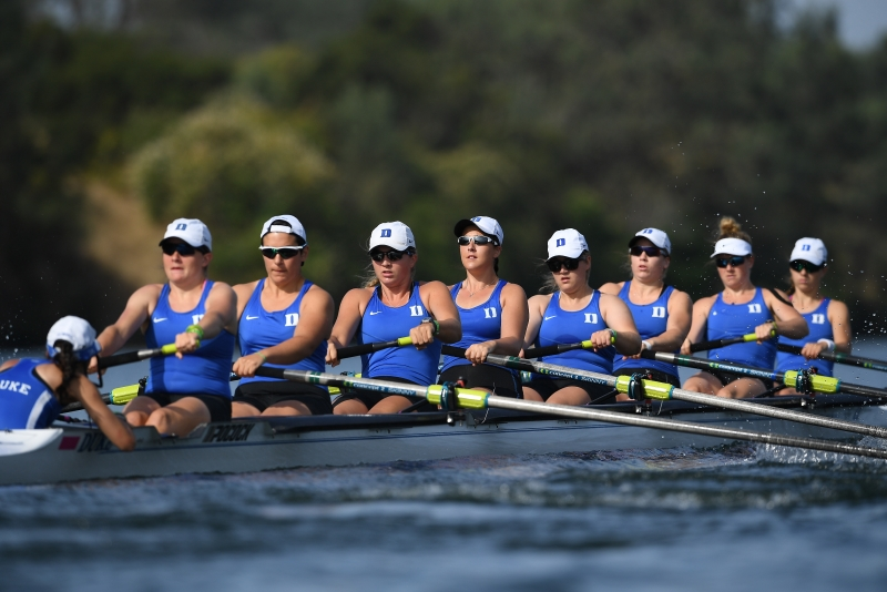 The Blue Devils' 2V8 won its last race of the season Sunday in the C final to finish 13th at the NCAA championship.