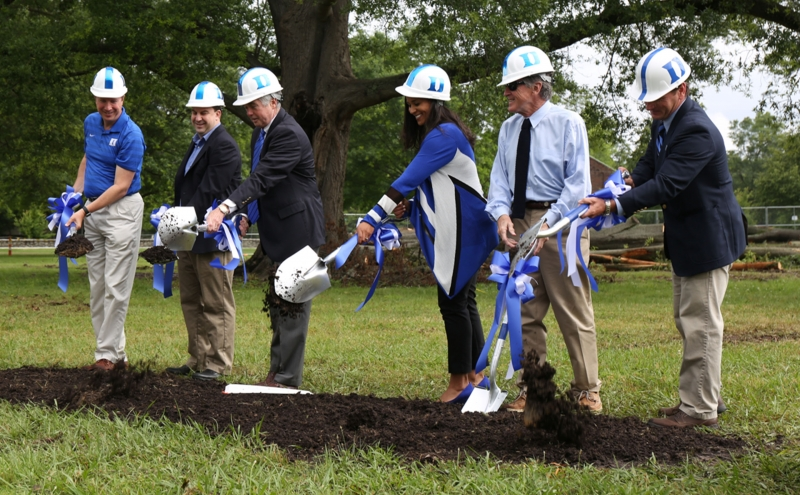 Members of the athletic department and head coach Marissa Young broke ground on Duke's new softball stadium on East Campus May 23.