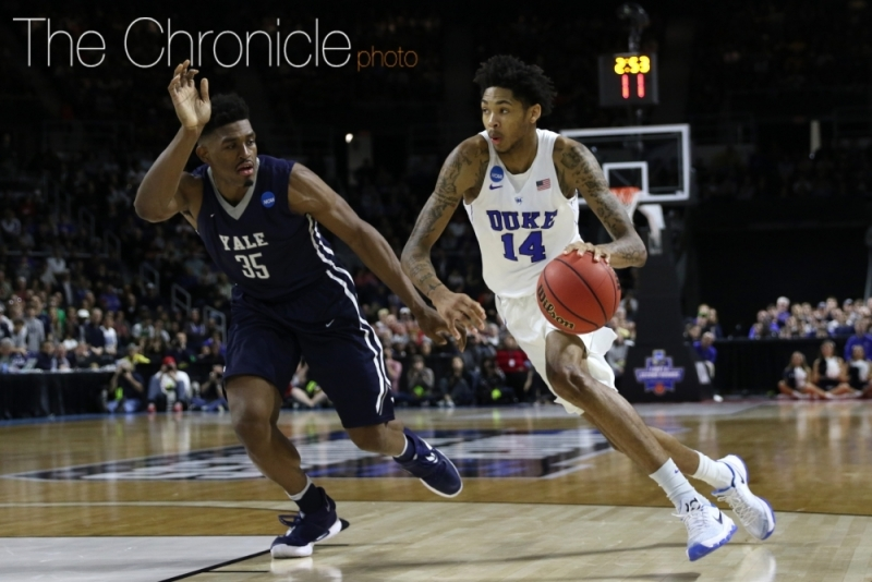 Former Duke swingman is expected to be a top-two pick in next Thursday's NBA Draft.