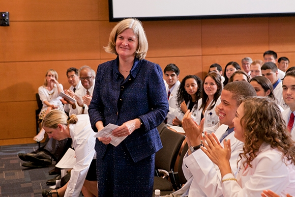 After 10 years on the job, Nancy Andrews, dean of the School of Medicine and vice chancellor for academic affairs, will step down June 2017.