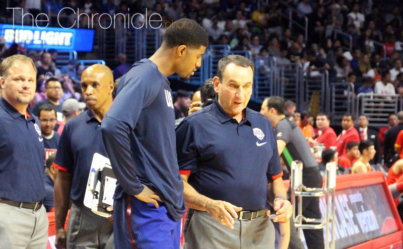 Indiana star Paul George builds strong relationship with Mike Krzyzewski during return to USA Basketball