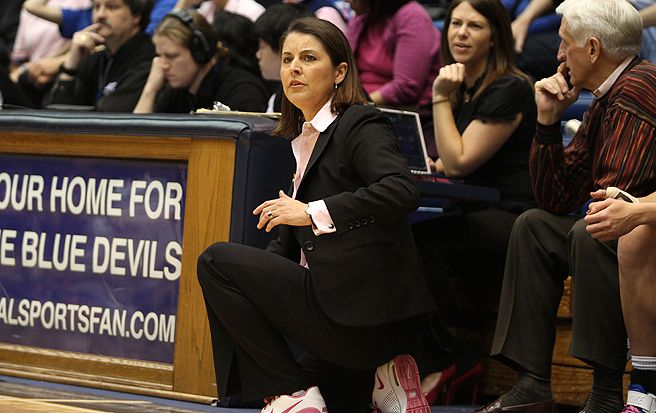 Duke women's basketball head coach Joanne P. McCallie will have the chance to make an impression on four recruits this weekend.