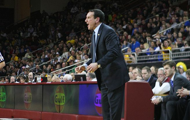 Mike Krzyzewski will need to pump up his players to match the intensity of a hungry North Carolina team.