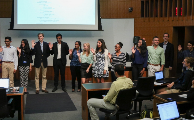 Duke Student Government swore in new senators during Wednesday's meeting.