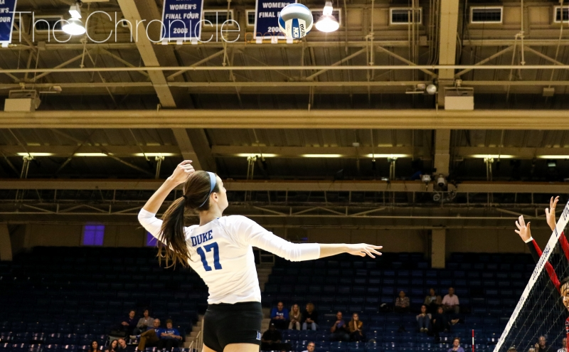 Freshman outside hitter Samantha Amos and the Blue Devils have won four games in a row.
