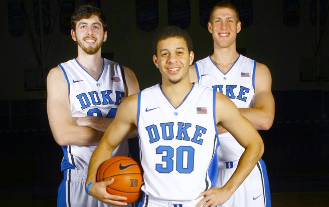 Seniors Seth Curry, Ryan Kelly and Mason Plumlee will play their final game at Cameron Indoor Stadium Tuesday against Virginia Tech.