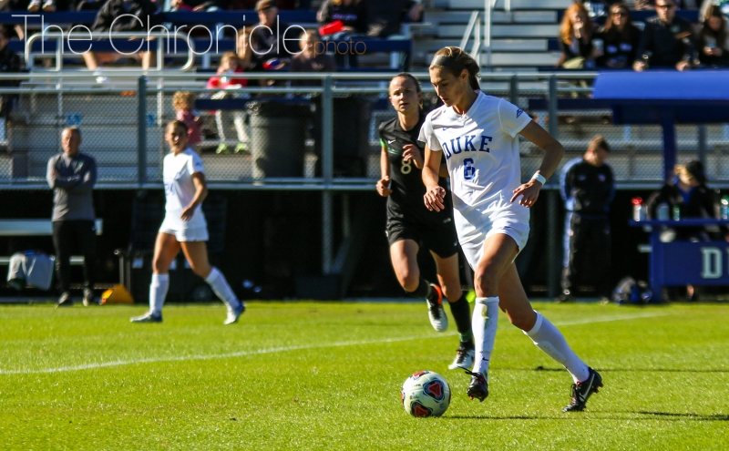 Senior Lizzy Raben and the Blue Devils will take on the winner of Northwestern-SUIE if they can get past Illinois State Friday.