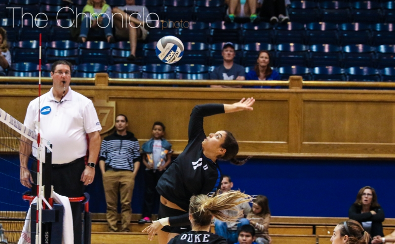 Middle blocker Jordan Tucker will play her last two regular-season games at Cameron Indoor Stadium this week.