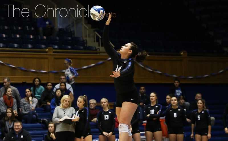 Defensive specialist Chloe DiPasquale and the Blue Devil seniors will play their final regular-season games this week.