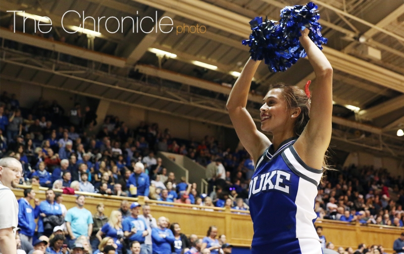 Sophomore Sydnei Murphy is expected to be one of Duke's top track and field athletes in the spring and has also been a cheerleader this fall.