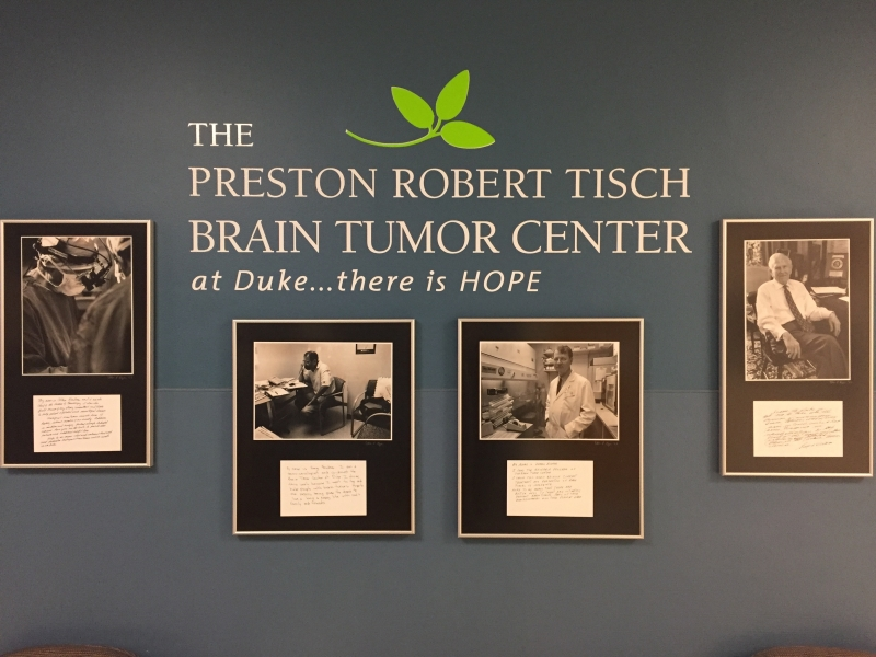 "Friedman helped coin the brain tumor center's motto—""At Duke there is hope."""