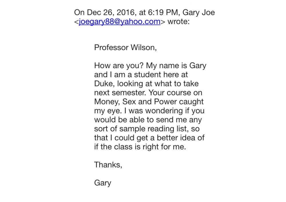 how to write to a professor