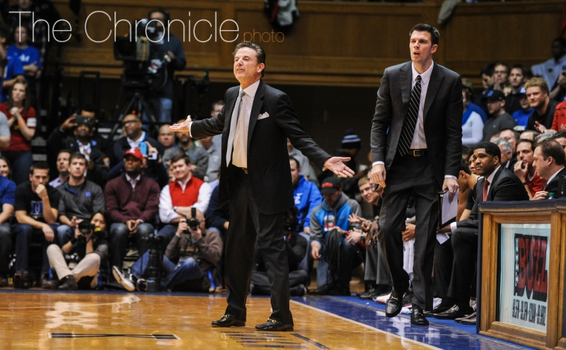 Louisville head coach Rick Pitino has led his team to impressive wins against Purdue, Kentucky and Indiana this season.