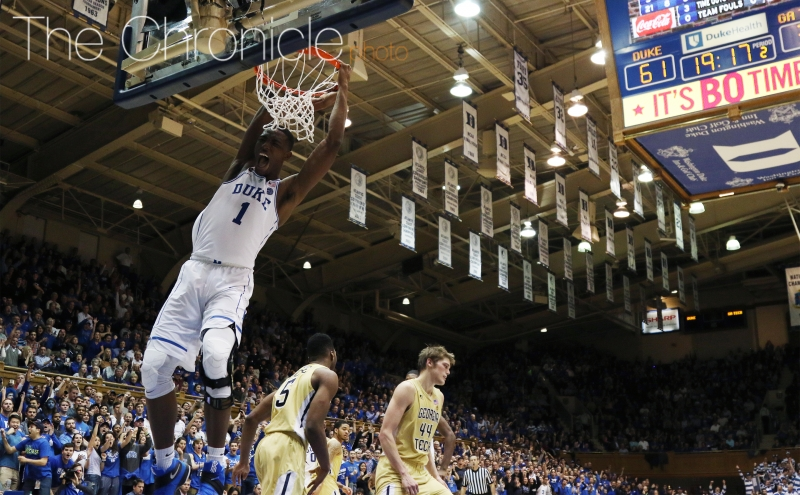 The Blue Devils will need the trio of Harry Giles, Chase Jeter and Marques Bolden to stay out of foul trouble and help protect the paint after allowing a season-high 56 points inside Tuesday.