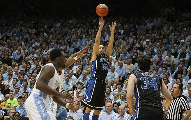 Senior guard Seth Curry had 18 points in the first half on 8-of-10 shooting from the field.