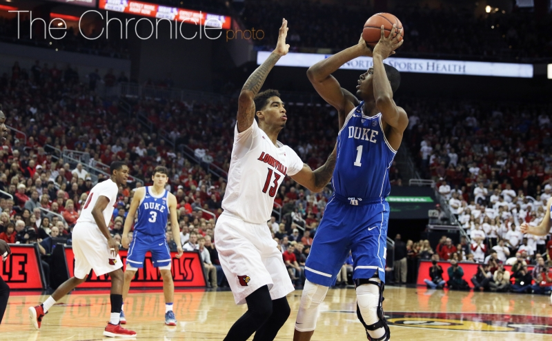Harry Giles scored seven points but missed three late free throws that could have kept Duke in the game.