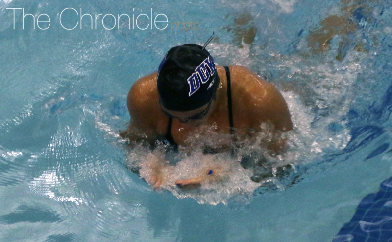 The Blue Devil men and women both knocked off South Carolina Saturday afternoon at home.