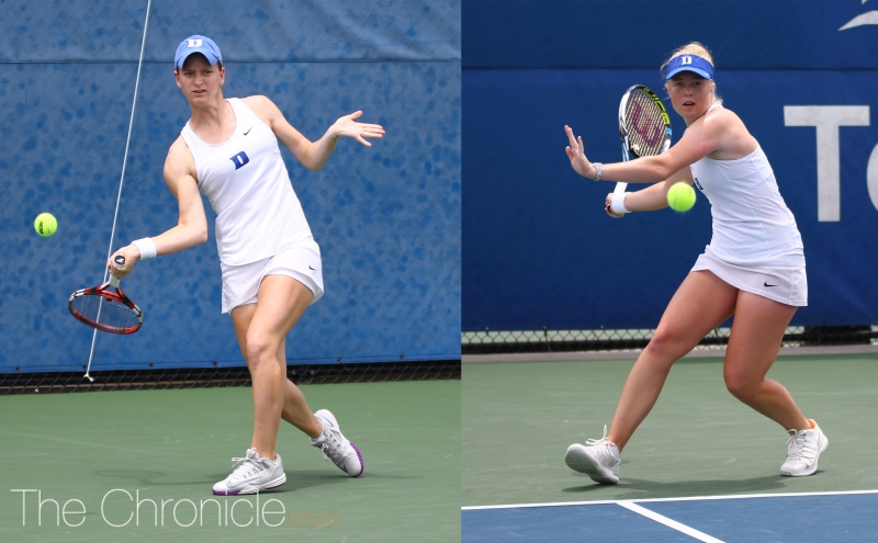 Chalena Scholl and Kaitlyn McCarthy reached the semifinals last weekend, one of the few highlights for the Blue Devils against a stacked field.