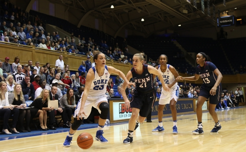 Redshirt junior Rebecca Greenwell had another tough shooting day on the road, but worked with her teammates to shut down Boston College's offense after halftime.