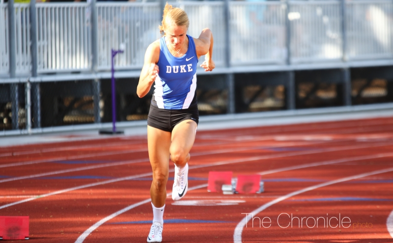 The Blue Devil sprinters led the way on the women's side, with the men's middle-distance performers also excelling in individual and relay events.