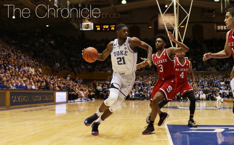 Graduate student Amile Jefferson and the Blue Devils will look to slow down a dangerous Wake Forest offense after allowing 84 points Monday night.