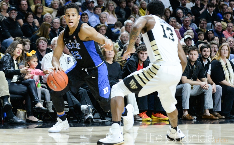 Freshman Frank Jackson had his best game on the road Saturday with nine points, four rebounds, four assists and no turnovers.