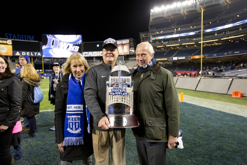 Indiana vs Duke in the New Era Pinstripe Bowl. Duke won 44-41 (OT).  Yankee Stadium in the Bronx borough of New York, NY. December 26, 2015.(Jon Gardiner/Duke Photography)