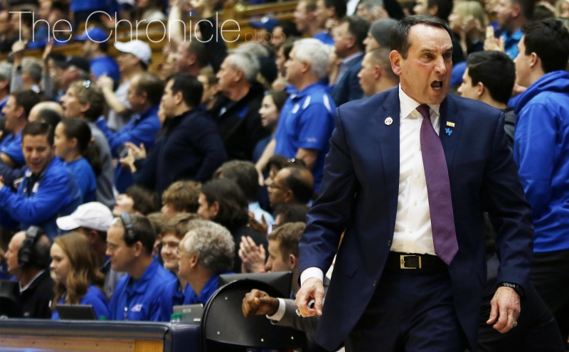 Head coach Mike Krzyzewski won his 500th game at Cameron Indoor Stadium Saturday afternoon.
