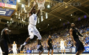 Graduate student Amile Jefferson will take on North Carolina at home for the final time in his career Thursday.