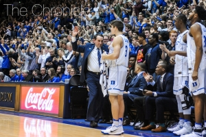 The Blue Devils got to celebrate their first top-10 win of the year Thursday night.