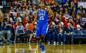 Sophomore Kyra Lambert and the Blue Devils will have to slow down the nation's highest-scoring backcourt duo Friday.