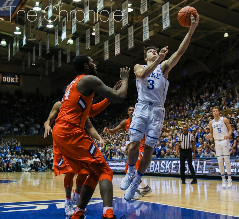 Junior Grayson Allen hit a buzzer-beater to knock off Virginia and its pack-line defense a year ago.